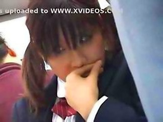 Japanese Schoolgirl Gets Groped And Fucked By A Stranger On The Bus