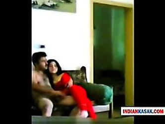 Indian Desi police man enjoying with his gf in home