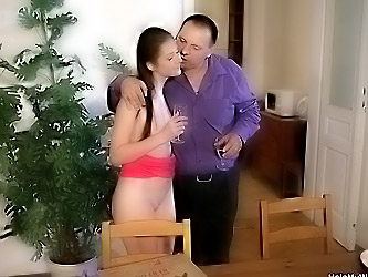 Younger wife fucks pizza boy