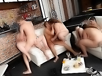Crazy bar party with fat sluts fucking