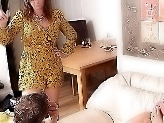 Hot BBW fucked at party