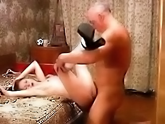 Young Girl  and  Old Man Good Fuck