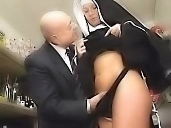 Nun And A Dirty Old Man Get To P...