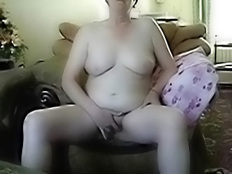 Busty Grandma Masturbating In Fr...