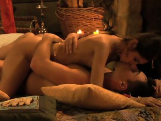 Gorgeous couple's steamy love making session