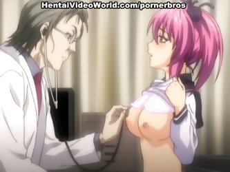 Pink haired anime chick fucked by trickster doctor