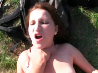 Willing real amateur euro babe pleases a huge cock in public for cash
