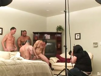 Backstage gash bash with hot bodies colliding in front of camera