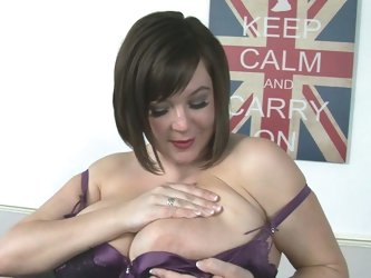 Big titted british mature masturbaton