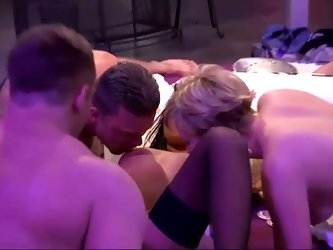 Wild foursome with some sexy bitches