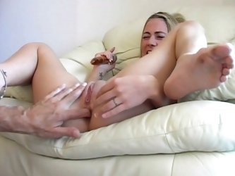 Drunk blonde babe gets drunk, strips and gets pussy played hard