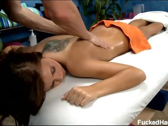 Hd hot young bruentte whitney gets massage and fucked