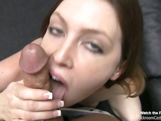 Backroom casting couch alicia gets a facial