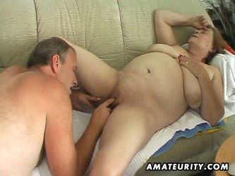 Chubby mature fucks and sucks her man