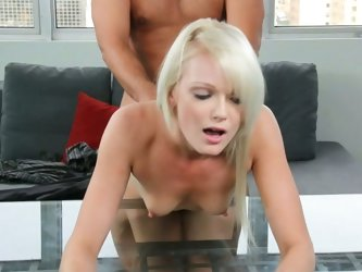 Tall blonde zoey paige casting couch shag