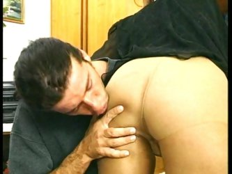Hot brunette in great sex action