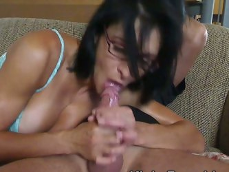 Kinky huge tits brunette riding cock in tight ass
