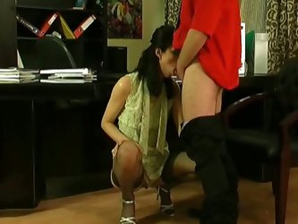 Mature teacher seduces this young hot babe