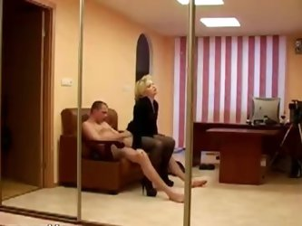 Hardcore fucking in the office caught on spy cam