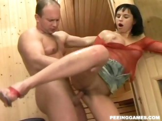 Renata Black - Pee girl in the sauna