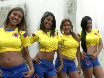 colombian girls playing soccer