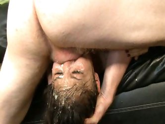 Lucy levon get her pretty face fucked hard.