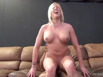 Slutty Eden Adams gets pounded by some old dude