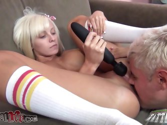 Sexy Rikki Six sits on guy's face and gives a blowjob