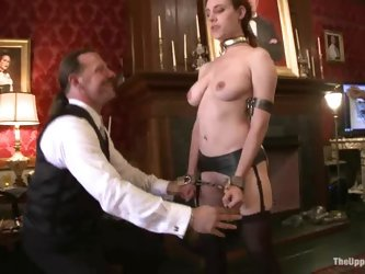 Iona Grace and Lilla Katt share a dildo and get tormented in BDSM vid