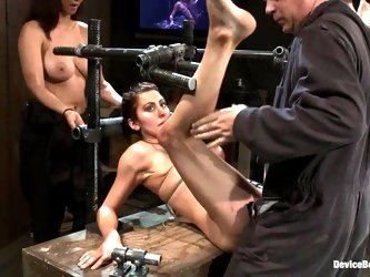 Isis Love torments and fucks Princess Donna Dolore in a cellar