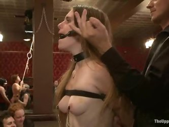 Ugly bootylicious bitch have a weird swinger party in BDSM way
