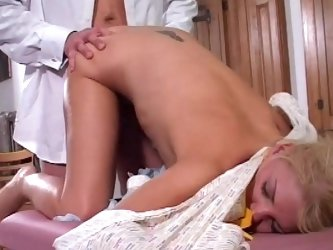 Nurse blonde being fucked by a doctor