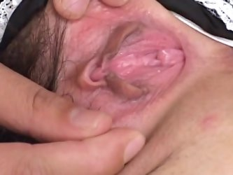 Spicy Asian model being fucked in her trimmed puss