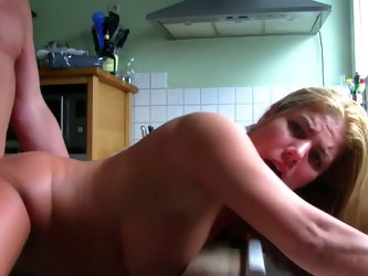 Nice german quickie in the kitchen