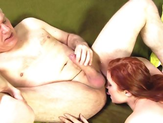 Stunning and slutty model being banged by an old man with his giant hard as steel cock, take a look!