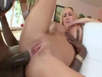 sublime blonde fucked by two long black cocks
