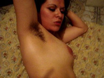 Cumming on my face while you see my hairy armpits