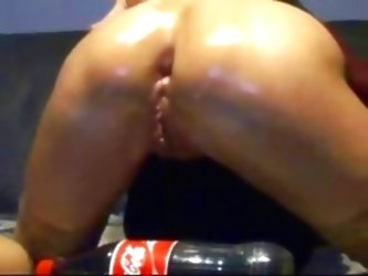 Anal Insertion Of Big Coca Cola...