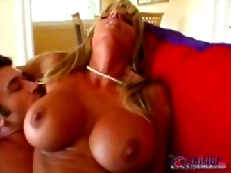 Dirty Big-breasted Blonde Is Fuc...