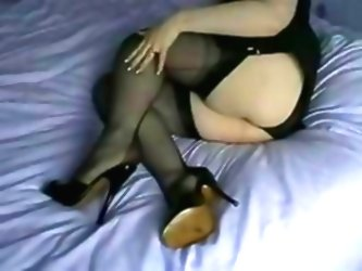 High Heel Mules And Ffnylons