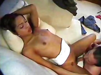 Flat chested tranny fucks like areal porn star