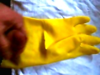 Cumming On My Rubber Glove