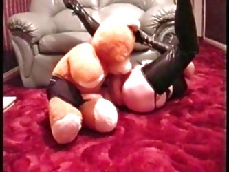 Miss Rubber Gets Teddy To Lick H...