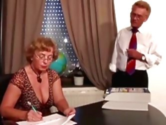 Mature Secretary Fucks Her Old B...