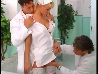 Hot Nurse Double Fucked By Two D...