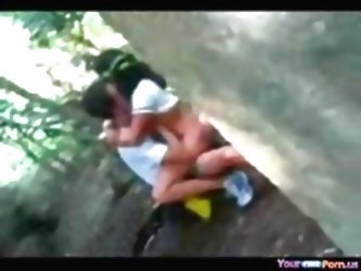 Voyeur Tapes A Teen Riding Her B...