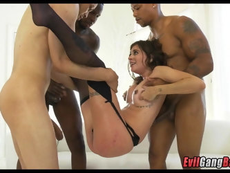 So many dicks in her