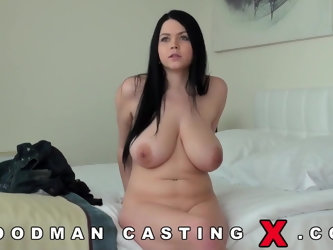 Slovak Teen With Massive Breasts Gangbanged On Tape