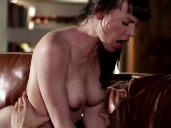 Full of passion brunette MILF is happy to top that young cock