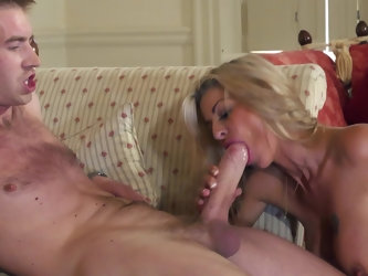 Thick dick of Danny D makes cougar Tia Layne super excited. She has a lot of experience in porn field and can say for sure that this young guy is a ta